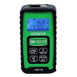Лазерный дальномер Hitachi HDM 40 - ДальномерДальномеры<br>Лазерный дальномер Hitachi HDM 40 - тип: лазерный, дальность измерения (без отражателя): 40 м, минимальное расстояние измерений: 5 см, точность измерения: 1.50 мм, количество точек начала отсчета: 3, подсветка дисплея, автоотключение, ударопрочный корпус, Функция Пифагора, функция сложения/вычитания, функция расчета объема, функция непрерывного измерения, функция расчета площади, тип электропитания: батарейки, батарейки (аккумулятор) в комплекте, количество батареек: 2, класс защиты: IP54, класс лазера: 2, длина волны: 635 нм, вес: 155 г