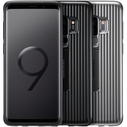 Чехол-накладка для Samsung Galaxy S9 (Protective Standing Cover EF-RG960CBEGRU) (черный) - Чехол для телефонаЧехлы для мобильных телефонов<br>Чехол плотно облегает корпус телефона и гарантирует его надежную защиту от царапин и потертостей.