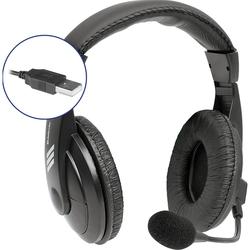 Defender Gryphon 750U (черный) - Компьютерная гарнитураКомпьютерные гарнитуры<br>Гарнитура с USB интерфейсом, наушники закрытого типа, регулятор громкости на кабеле, кнопка выключения микрофона, хорошая звукоизоляция.
