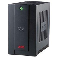 APC Back-UPS 650VA AVR 230V CIS - Источник бесперебойного питания, ИБПИсточники бесперебойного питания<br>APC Back-UPS 650VA AVR 230V CIS - интерактивный источник бесперебойного питания, 1-фазное входное напряжение, выходная мощность 650 ВА 390 Вт, выходных разъемов: 3 (с питанием от батарей - 3), интерфейсы: USB, время зарядки 8 ч, форма выходного сигнала: ступенчатая аппроксимация синусоиды