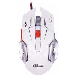 Ritmix ROM-355 White USB - МышьМыши<br>Ritmix ROM-355 White USB - тип: мышь, интерфейс подключения: USB, предназначение: настольный компьютер, колесо прокрутки, принцип работы: оптическая светодиодная, дизайн: для правой руки, количество клавиш: 6, длина провода: 1.50 м, разрешение оптического сенсора: 2400 dpi, длина: 126 мм, ширина: 54 мм, высота: 33 мм, цвет: белый