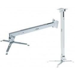 VLK TRENTO-83w (белый) - Кронштейн для проектораКронштейны для проекторов<br>Кронштейн для проекторов, настенный/потолочный, максимальная нагрузка 15 кг, наклонно-поворотный.
