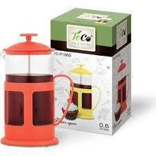 Френч-пресс TECO TС-P1060-R (красный) - Посуда для готовкиПосуда для готовки<br>Френч-пресс, объем - 0.6 л, из пластика и стекла.