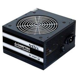 Chieftec GPS-500A8 500W - Блок питанияБлоки питания<br>Chieftec GPS-500A8 500W - блок питания мощностью 500 Вт, стандарт ATX12V 2.3, система охлаждения: 1 вентилятор (120 мм), размеры (ВxШxГ) 87x150x140 мм