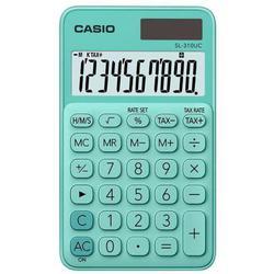 Casio SL-310UC-GN-S-EC (зеленый) - КалькуляторКалькуляторы<br>Калькулятор карманный, 10-разрядный, корректировка ввода числа, налог на доб. стоимость, смена знака.