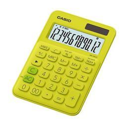 Casio MS-20UC-YG-S-EC (желтый) - КалькуляторКалькуляторы<br>Калькулятор настольный, размеры 105x23x150 мм, 12-разрядный, корректировка вводимого числа, смена знака.