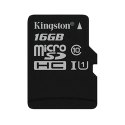 Kingston microSDHC 16Gb class 10 UHS-I w/o adapter (SDCS/16GBSP) - Карта флэш-памятиКарты флэш-памяти<br>Карта памяти microSDHC, объем 16Гб, UHS-I, class 10.
