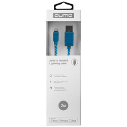 Кабель USB-Lightning 2м (Qumo 23600) (синий) - Кабели (QUMO) Улан-Удэ аксессуары для пк