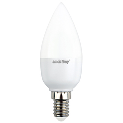 Светодиодная лампа Smartbuy SBL-C37-9_5-60K-E14 - ЛампочкаЛампочки<br>Энергосберегающая лампа общего или декоративного освещения, подходит для замены стандартных ламп накаливания и галогенных.