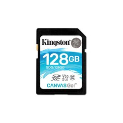 Kingston SDXC 128GB Class 10 UHS-I U3 (SDG/128GB) - Карта флэш-памятиКарты флэш-памяти<br>Карта памяти SDXC, объем 128GB, Class 10, UHS-I U3 V30, 90/45 MB/s