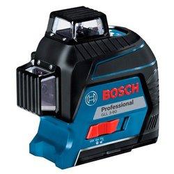 Лазерный уровень Bosch GLL 3-80 Professional (0601063S00) - Нивелир, лазерный уровеньНивелиры и лазерные уровни<br>Лазерный уровень Bosch GLL 3-80 Professional (0601063S00) - тип нивелира: лазерный, тип лазерного нивелира: линейный, максимальная дальность измерения (без приемника): 15 м, максимальная дальность измерения (с приемником): 60 м, точность: 0.20 мм/м, автоматическое выравнивание, количество перекрестий (угол 90°): 6, количество вертикальных линий: 2, угол вертикальной развертки: 360 °, количество горизонтальных линий: 1, угол горизонтальной развертки: 360 °, угол самовыравнивания: 4 °, отключение выравнивания, количество проецируемых точек: 1, отвес, цвет луча: красный, резьба под штатив 5/8quot;, резьба под штатив  1/4quot;, мишень, количество лучей: 3 шт., элементы питания: АА, кейс, класс лазера: 2, длина волны: 635 нм, количество элементов питания: 4 шт., время непрерывной работы : 4 ч, минимальная рабочая температура: -10 °C, максимальная рабочая температура: 40 °C