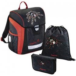 Ранец Step By Step BaggyMax Trikky Dark Spider (3 предмета) - Ранец, рюкзак, сумка, папкаРюкзаки и ранцы для школы<br>Крепкая пластиковая основа с регулируемыми ножками для защиты от грязи и влаги. Мягкие регулируемые лямки со светоотражающими полосками