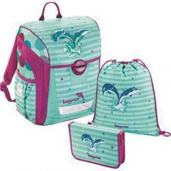 Ранец Step By Step BaggyMax Trikky Dolphin (3 предмета) - Ранец, рюкзак, сумка, папкаРюкзаки и ранцы для школы<br>мКрепкая пластиковая основа с регулируемыми ножками для защиты от грязи и влаги. Мягкие регулируемые лямки со светоотражающими полосками.
