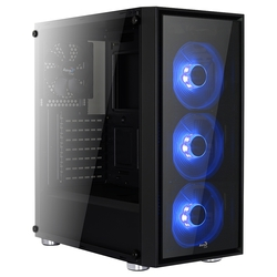 AeroCool Quartz Black/blue