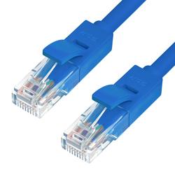 Патч корд UTP кат.5е, RJ45 3m (Greenconnect GCR-50681) (синий) - Кабель