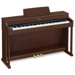 Цифровое пианино CASIO AP-470 (коричневый) - Синтезатор, миди-клавиатураСинтезаторы и миди-клавиатуры<br>Цифровое пианино, взвешенная клавиатура c 88 клавишами, педали встроенные, классический корпус, встроенная акустика, тембров: 22, обучение, USB.