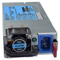 HPE 503296-B21 - Блок питанияБлоки питания<br>Блок питания переменного тока 460 Вт, с горячей заменой.