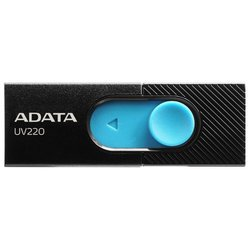 ADATA UV220 32GB (AUV220-32G-RBKBL) (черно-голубой) - USB Flash driveUSB Flash drive<br>32 Гб, USB 2.0, материал корпуса: пластик.