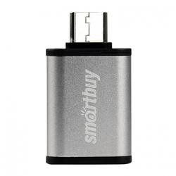 Адаптер USB-A 3.0 - USB Type-C (Smartbuy SBR-OTG05-S) (серебристый) - Кабели