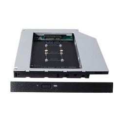 Espada MS12 (черный) - Кабели, переходник для HDDКабели, переходники для HDD<br>Переходник, позволяющий установить mSATA SSD вместо оптического привода ноутбука высотой 12.7 мм. Такие устройства также называют Optibay, HDD Caddy, адаптер hdd вместо dvd.