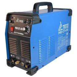 Инвертор для плазменной резки ТСС PRO CT-416 - Аппарат для плазменной резкиПлазменная резка<br>Инвертор для плазменной резки ТСС PRO CT-416 - тип питания: инвертор, назначение: многофункциональное, ручная дуговая сварка, аргонодуговая сварка, тип поджига дуги: высокая частота, тип рабочего потока: воздух, режущий ток: 10-40 А, толщина металла: 12 мм, расход воздуха: 150-200 л/мин, давление воздуха: 4-5 бар, тип охлаждения: воздушное