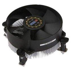 Titan DC-156V925X/R - Кулер, охлаждениеКулеры и системы охлаждения<br>Titan DC-156V925X/R - кулер для процессора, совместим с сокетами S1155/1156, включает 1 вентилятор диаметром 95 мм, скорость вращения 2200 об/мин, радиатор из алюминия, уровень шума 27 дБ