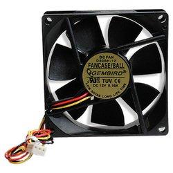 Gembird FANCASE/BALL - Кулер, охлаждениеКулеры и системы охлаждения<br>Gembird FANCASE/BALL - система охлаждениядля корпуса, включает 1 вентилятор диаметром 80 мм, скорость вращения 2600 об/мин, регулятор оборотов, уровень шума 27 дБ