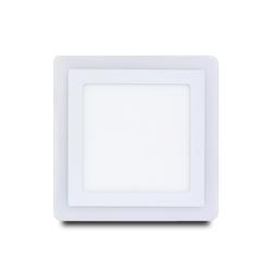 Встраиваемый светильник Smartbuy SBLSq-DLB-18-65K-O - ОсвещениеНастольные лампы и светильники<br>Встраиваемый (LED) светильник, квадрат с подсветкой DLB, 18w, 6500K+O, IP20.