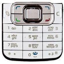 Клавиатура для Nokia 6120 Classic (М0034231) (белый) - Клавиатура для мобильного телефона
