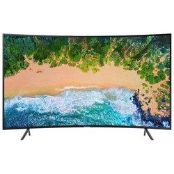 Samsung UE55NU7300U (черный) - ТелевизорТелевизоры и плазменные панели<br>ЖК-телевизор, LED, 54.6quot;, 3840x2160, 4K UHD, HDR, DVR, 2 TV-тюнера, мощность звука 20 ВтHDMI x3, Ethernet, Wi-Fi, Smart TV, изогнутый экран.