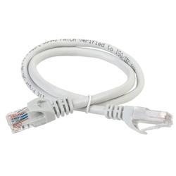 Патч-корд UTP кат.5е 0.5м (ITK PC01-C5EUL-05M) (серый) - КабельСетевые аксессуары<br>Патч-корд UTP (неэкранированный), категория 5е, LSZH, длина кабеля 0.5м.