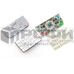 Клавиатура для Nokia E66 (М0034269) (серебристый) - Клавиатура для мобильного телефона