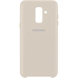 Чехол-накладка для Samsung Galaxy A6 Plus 2018 (EF-PA605CFEGRU Dual Layer Cover) (золотистый) - Чехол для телефона  - купить со скидкой