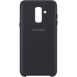 Чехол-накладка для Samsung Galaxy A6 Plus 2018 (EF-PA605CBEGRU Dual Layer Cover) (черный) - Чехол для телефона  - купить со скидкой