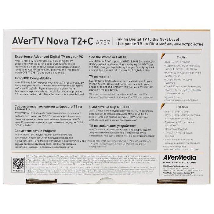 TV-тюнер AVerMedia Technologies Nova T2+C