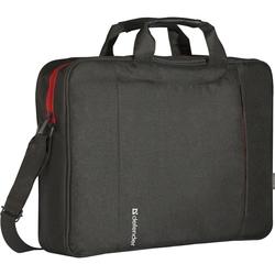 Сумка для ноутбука 15.6 (DEFENDER Geek 26084) (черный) - Сумка для ноутбукаСумки и чехлы<br>Материал: полиэстер. Передние карманы: внешние, для планшета, на молнии. Возможность крепления на ручке чемодана-тележки: есть. Дополнительно в комплекте: плечевой ремень.