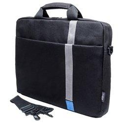 PC PET PCP-1001 (черный/синий) - Сумка для ноутбукаСумки и чехлы<br>PC PET PCP-1001 - сумка, для 15.6quot; ноутбуков, из синтетических материалов, водонепроницаемый материал