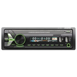 Digma DCR-390G (черный, зеленая подсветка) - АвтомагнитолаАвтомагнитолы<br>Автомагнитола 1 DIN, макс. мощность 4x45 Вт, воспроизведение с USB, аудиовход на передней панели, радиоприемник, поддержка карт памяти SD.