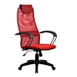 Metta BP-8 PL № 22 (красный) - Стул офисный, компьютерныйКомпьютерные кресла<br>Метта BP-8 PL - компьютерное кресло, до 120 кг, механизм качания, регулировка высоты сидения, поясничный упор, регулировка жесткости качания, газлифт, обивка: искусственная кожа, текстиль, спинка: сетка.
