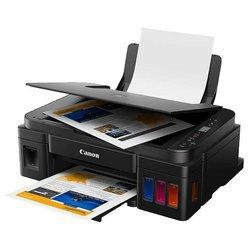 МФУ Canon PIXMA G2411 - Принтер, МФУПринтеры и МФУ<br>МФУ Canon PIXMA G2411 - принтер/сканер/копир, A4, печать  термическая струйная цветная, 4-цветная, 8.8 изобр./мин ч/б, 5 изобр./мин цветн., 4800x1200 dpi, подача: 100 лист., USB, печать фотографий, ЖК-панель