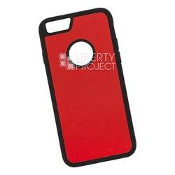 Чехол накладка для Apple iPhone 6, 6s (0L-00038589) (оранжевый, желтый) - Чехол для телефонаЧехлы для мобильных телефонов<br>Предназначен для защиты мобильного телефона от негативного воздействия внешних факторов (пыль, грязь).