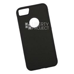 Чехол накладка для Apple iPhone 7, 8 (0L-00038600) (черный, зеленый) - Чехол для телефонаЧехлы для мобильных телефонов<br>Предназначен для защиты мобильного телефона от негативного воздействия внешних факторов (пыль, грязь).