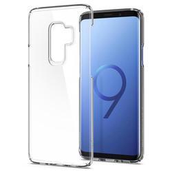 Чехол-накладка для Samsung Galaxy S9 Plus (Spigen Thin Fit 593CS22961) (кристально-прозрачный) - Чехол для телефонаЧехлы для мобильных телефонов<br>Защитит смартфон от грязи, пыли, брызг и других внешних воздействий.