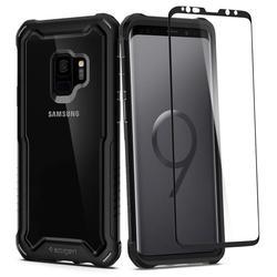 Чехол-накладка для Samsung Galaxy S9 (Spigen Hybrid 360 592CS23039) (черный) - Чехол для телефонаЧехлы для мобильных телефонов<br>Защитит смартфон от грязи, пыли, брызг и других внешних воздействий.
