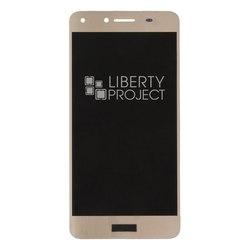 Дисплей для Huawei Y5 II (LTE) (CUN-U29), Y5 III с тачскрином (0L-00037401) (золотистый) - Дисплей, экран для мобильного телефонаДисплеи и экраны для мобильных телефонов<br>Полный заводской комплект замены дисплея для Huawei Y5 II. Стекло, тачскрин, экран для Huawei Y5 II в сборе. Если вы разбили стекло - вам нужен именно этот комплект, который поставляется со всеми шлейфами, разъемами, чипами в сборе.