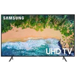 Samsung UE43NU7100U (черный) - ТелевизорТелевизоры и плазменные панели<br>ЖК-телевизор, 4K UHD, диагональ 42.5quot; (108 см), Smart TV (Tizen), Wi-Fi, HDMI x3, USB x2, DVB-T2, поддержка HDR.