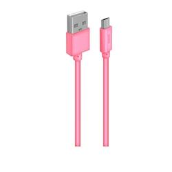 Кабель для Samsung USB (M) - microUSB (M) 1м (OXION OX-DCC030PK) (розовый) - КабелиUSB-, HDMI-кабели, переходники<br>Кабель для синхронизации и зарядки, тип USB 2.0, длина 1м.