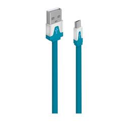 Кабель для Samsung USB (M) - microUSB (M) 1м (OXION OX-DCC328BL) (синий) - КабелиUSB-, HDMI-кабели, переходники<br>Кабель для синхронизации и зарядки, тип USB 2.0, плоский, длина 1м.