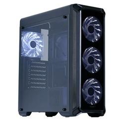 Zalman i3 Edge Black - КорпусКорпуса<br>Компьютерный корпус Midi-Tower, без блока питания, форм-фактор ATX, mATX, Mini-ITX, спереди: USB x3, наушн., микр., материал: сталь.