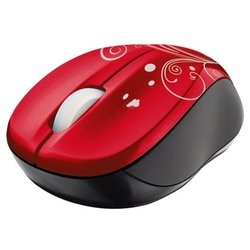 trust vivy wireless mini mouse red swirls usb